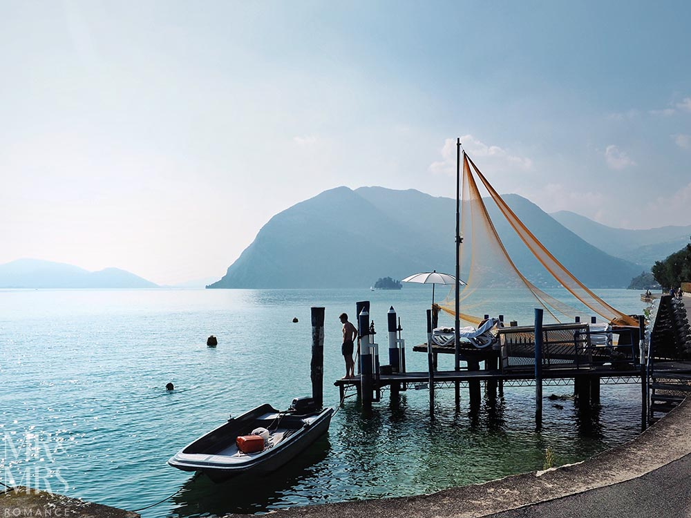 Monte Isola, Lake Iseo, Italy - fishing nets