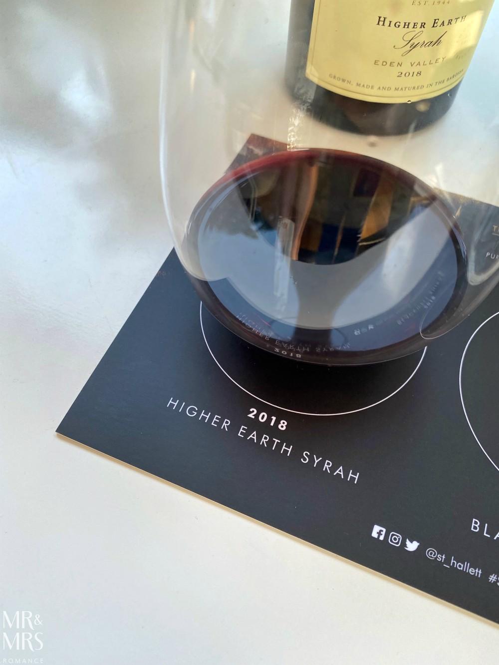 St Hallett tasting 2020 release Higher Earth Shiraz