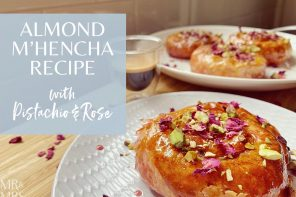 North African Delights – almond m'hencha with pistachio, honey and rose