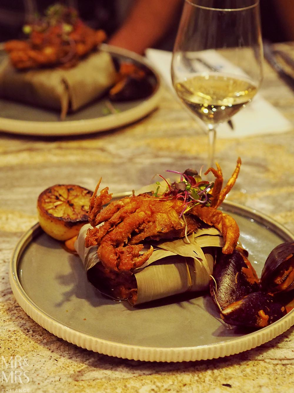Where to eat in Johannesburg South Africa - soft-shell crab at Epicure by Chef Coco