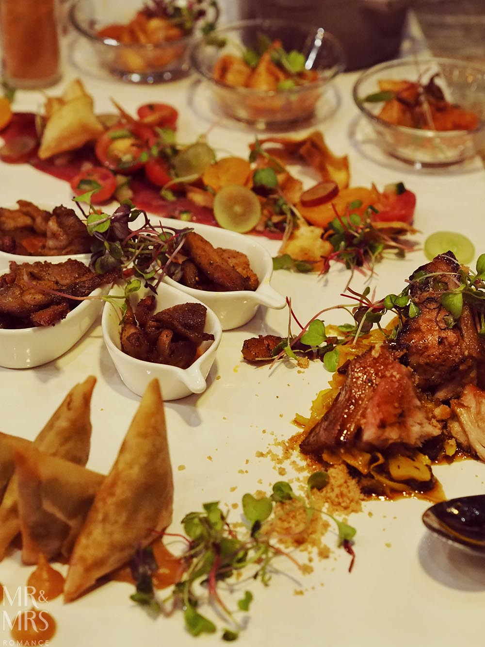 Where to eat in Johannesburg South Africa - entree platter at Epicure by Chef Coco