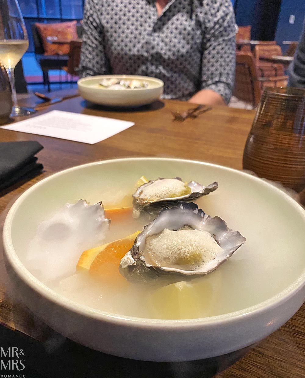 Where to eat in Sydney Amber Restaurant Pacific oysters