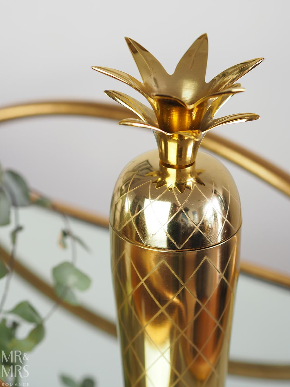 Christmas gift guide homewares and food - One World Collection gold pineapple cocktail shaker