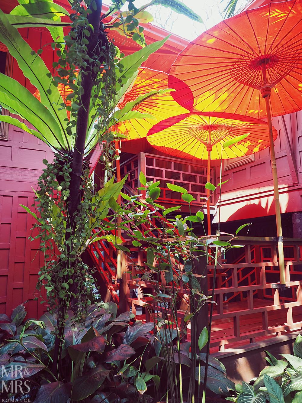 Jim Thompson House, Bangkok - parasols
