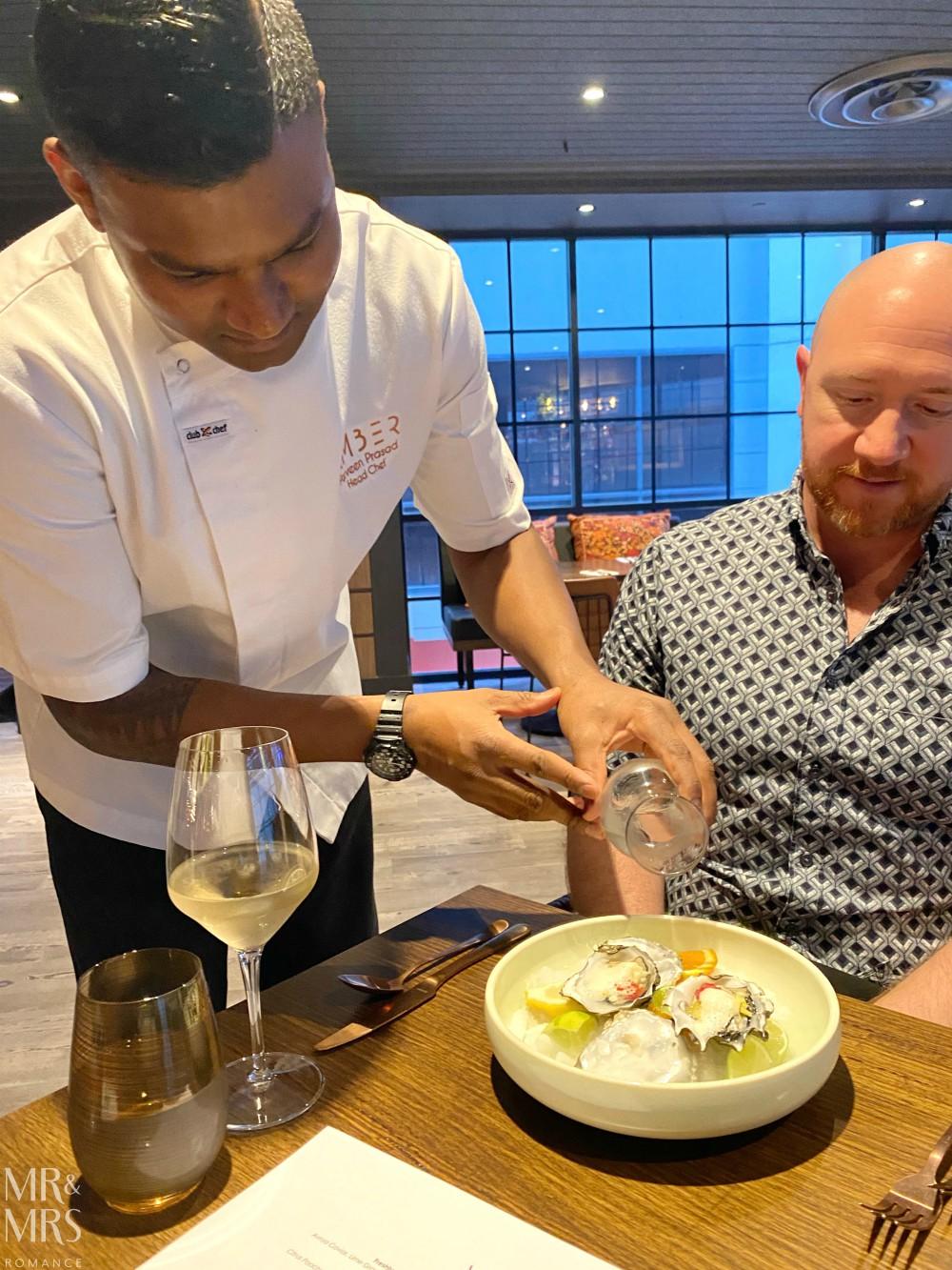 Amber Restaurant, Sydney - Chef Parveen Prasad