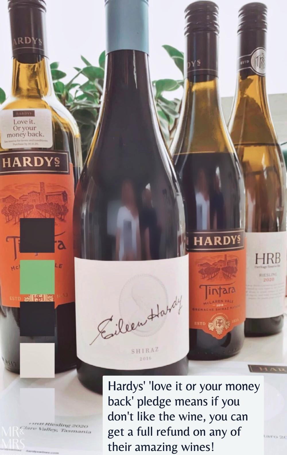 Hardys Wines' love it or your money back pledge