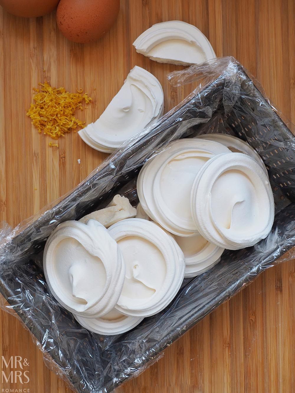 Lemon Meringue Semifreddo Recipe - meringues