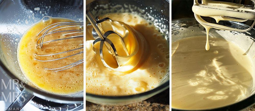 Lemon Meringue Semifreddo Recipe - whisking the eggs