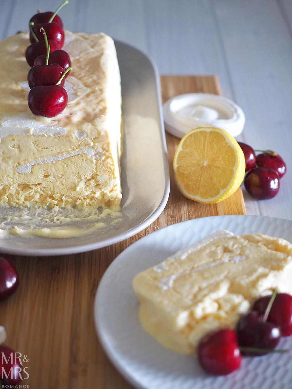 Lemon Meringue Semifreddo Recipe - serving suggestion