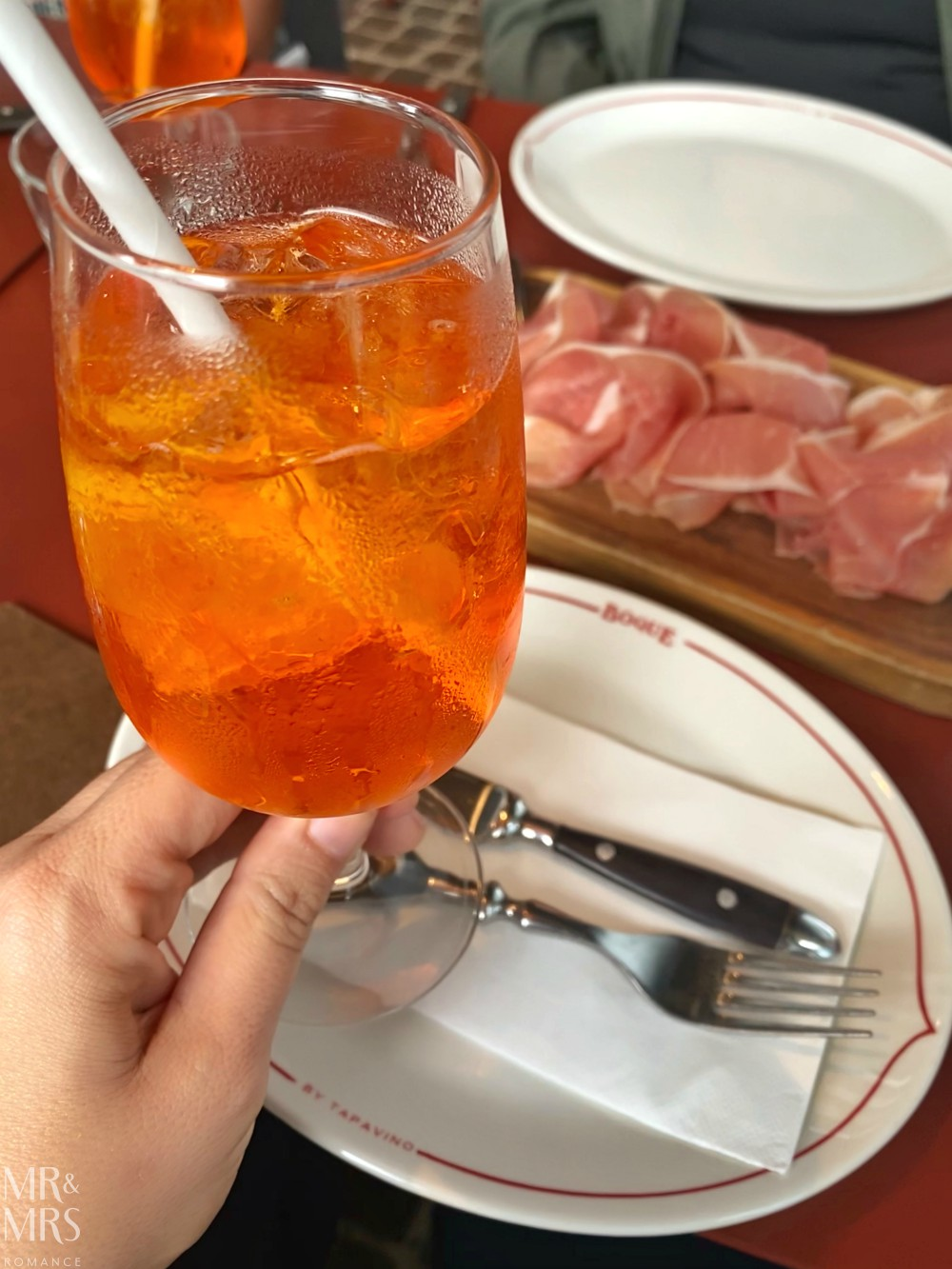 ASTW Christmas lunch Boque by Tapavino Aperol spritz