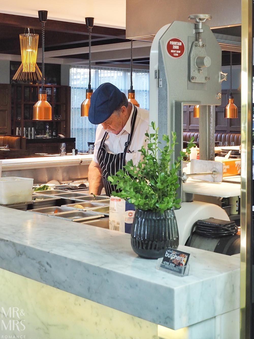 Workshop Kitchen at Powerhouse Hotel Tamworth - best steak in Australia - chef prepping