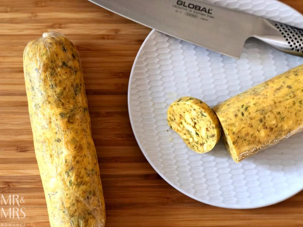 Cafe de paris butter recipe - sliced