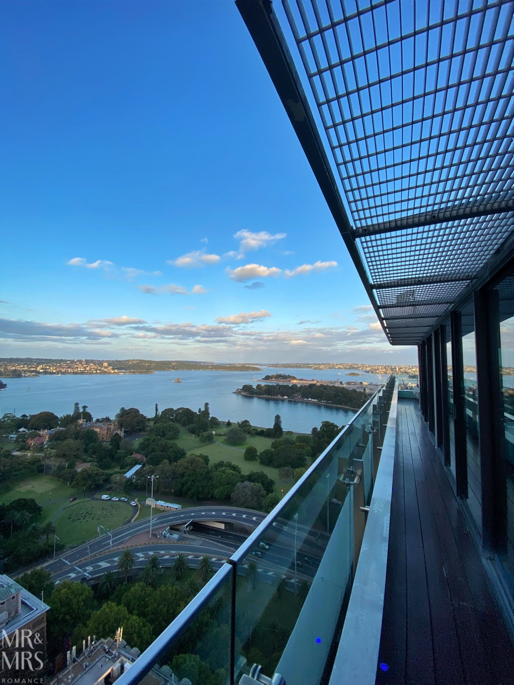 Panorama Lounge Bar InterContinental Hotel Sydney - sunset over Sydney