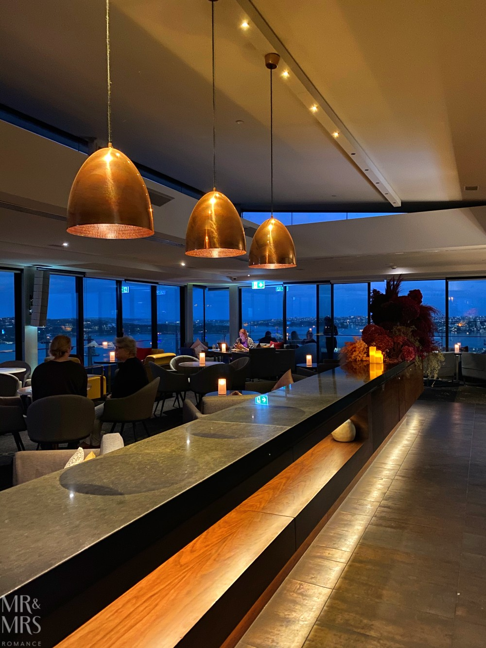 Panorama Lounge Bar InterContinental Hotel Sydney - blue hour Sydney