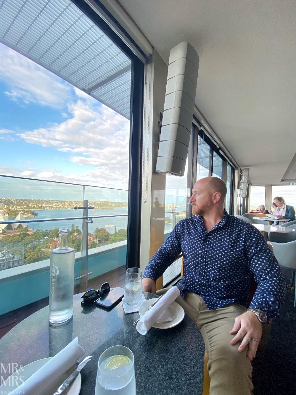 Panorama Lounge Bar InterContinental Hotel Sydney - Jim view