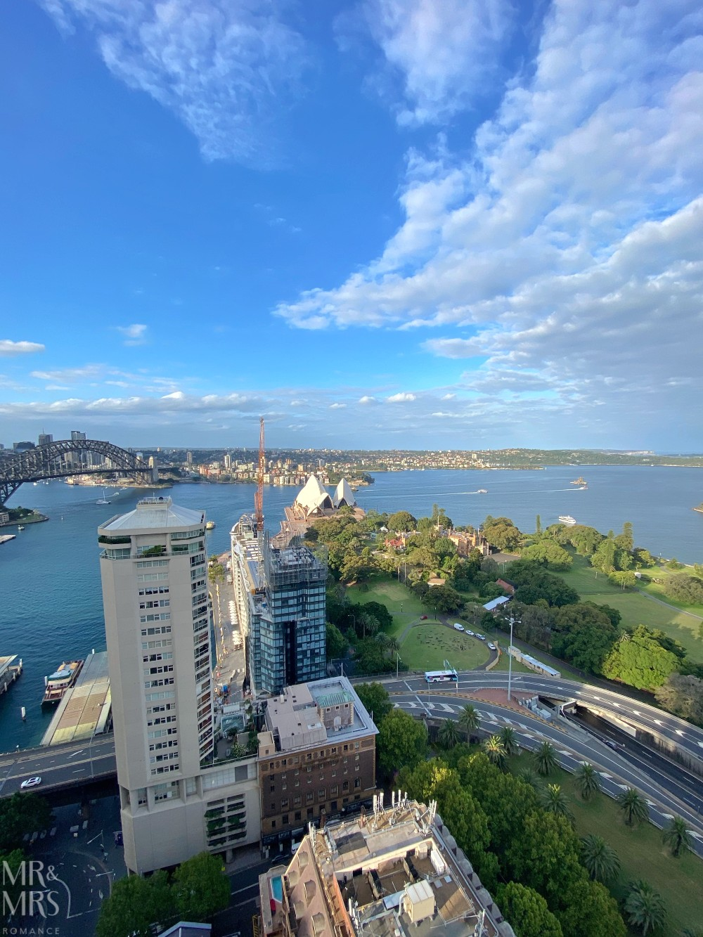 Panorama Lounge Bar InterContinental Hotel Sydney - view from balcony