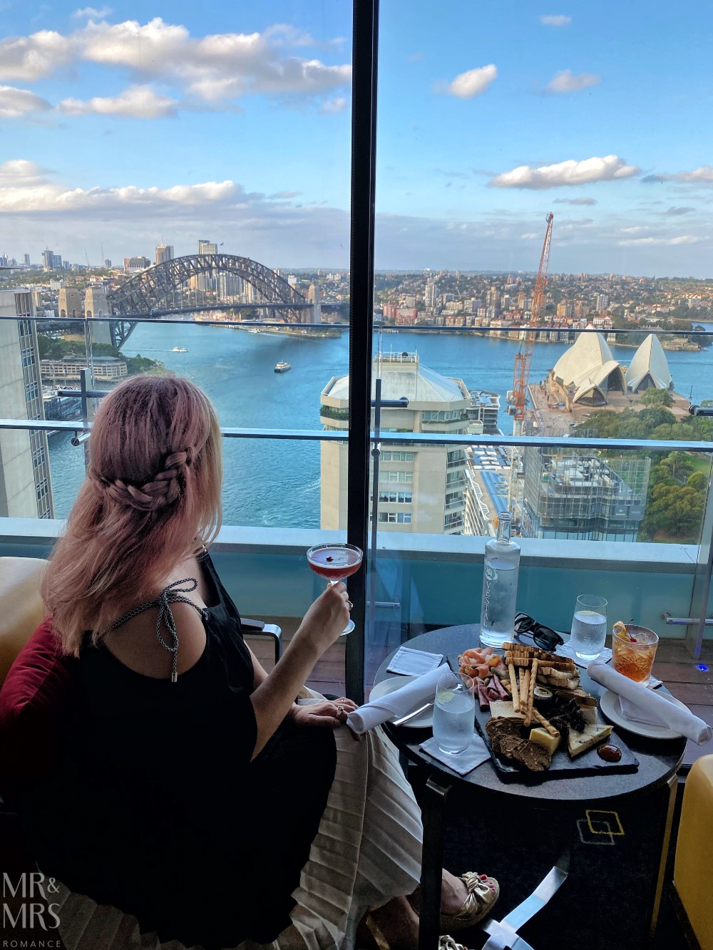 Panorama Lounge Bar InterContinental Hotel Sydney - food drinks and view - Christina