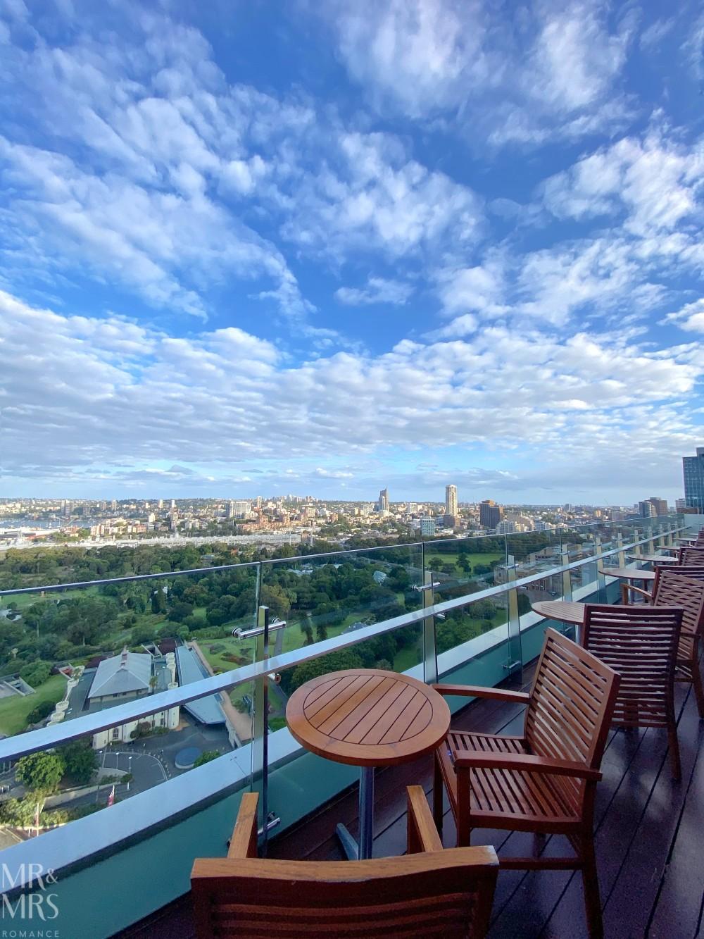 Panorama Lounge Bar InterContinental Hotel Sydney - seating on balcony