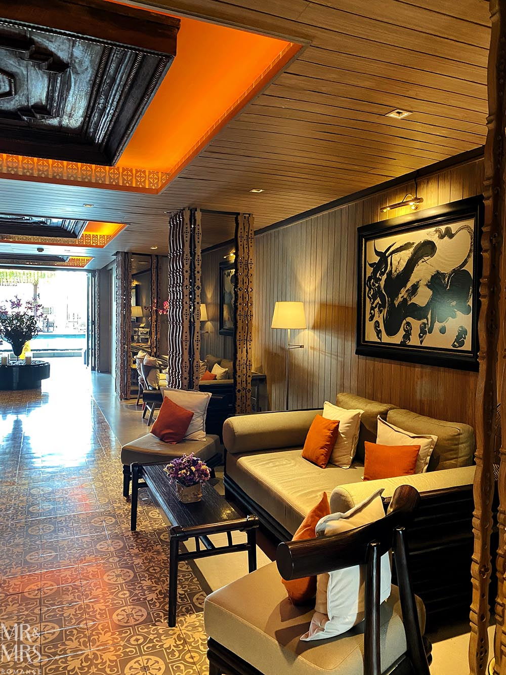 Where to stay in Bangkok Old Town - Riva Surya Hotel review - lobby
