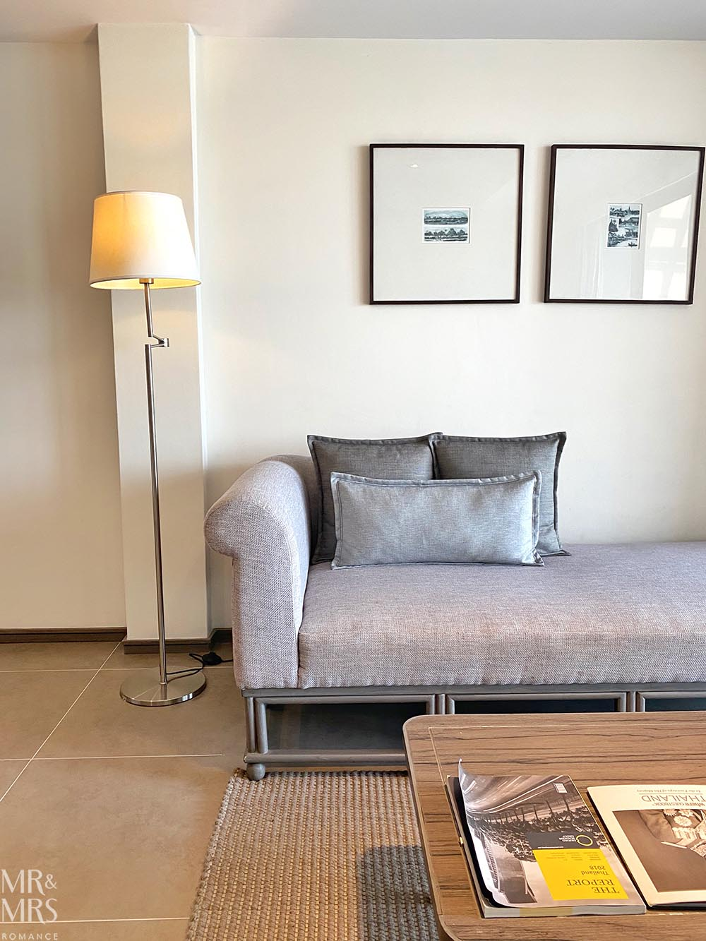 Where to stay in Bangkok Old Town - Riva Surya Hotel review - sofa in superior room