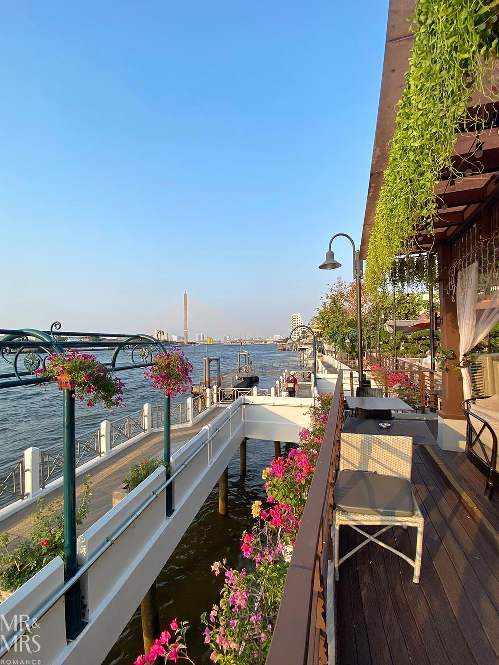 Where to stay in Bangkok Old Town - Riva Surya Hotel review - river view and private jetty