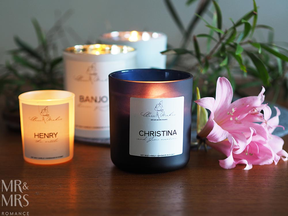 Romantic gifts - Clare Makes handmade candles