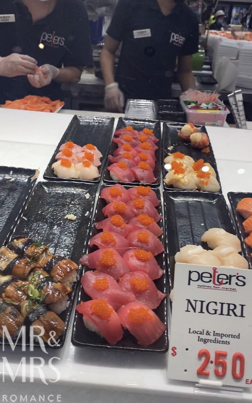 Sydney Fish Markets sushi