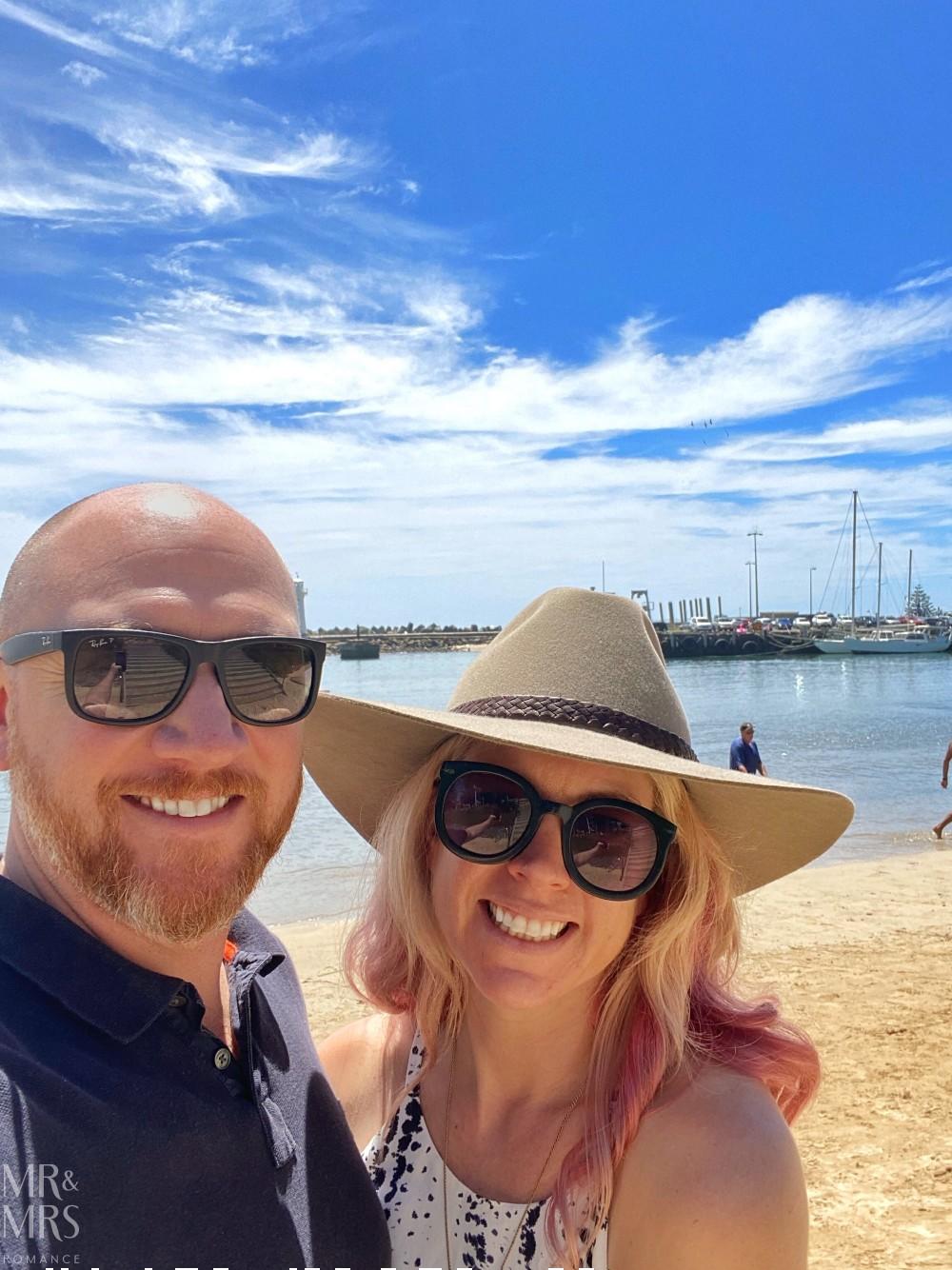 Us at Wollongong beach
