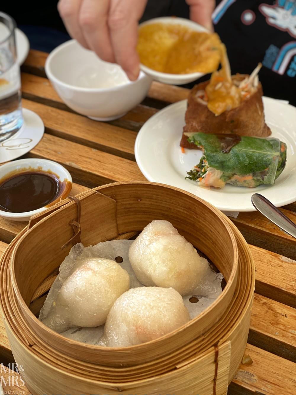 Bodhi vegan yum cha - vegan prawn dumplings