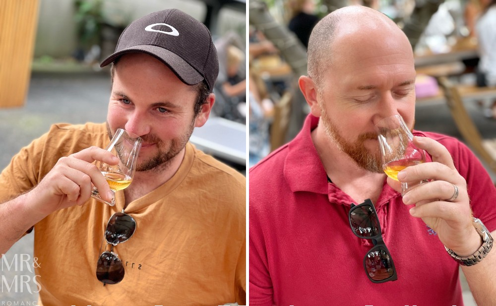 Josh Walker Timboon Distillery & Jim with new smoky peated whisky