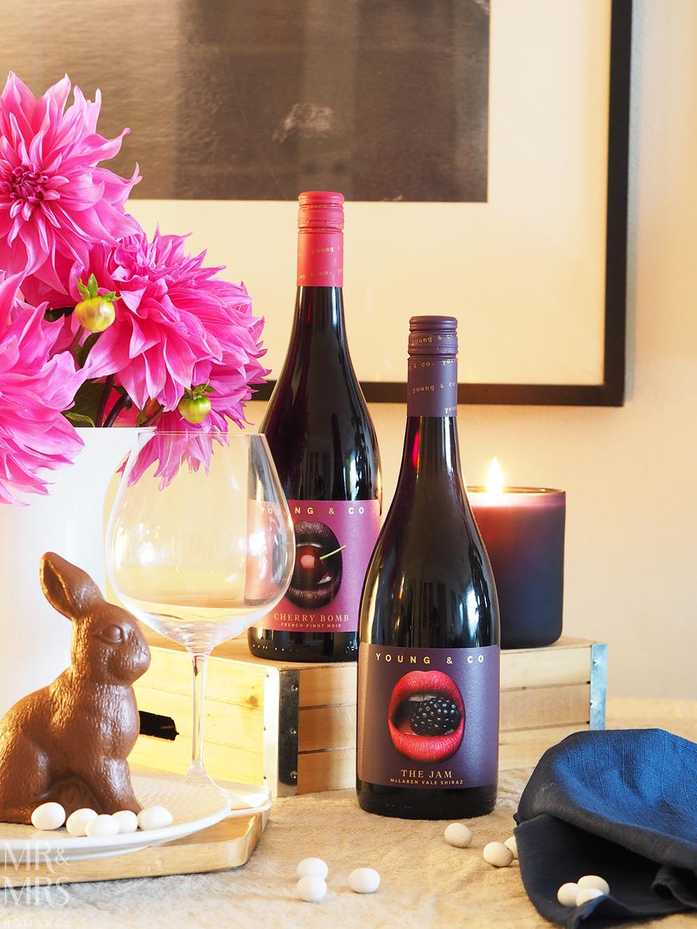 Wine for Easter - Young & Co Wines - Cherry Bomb French Pinot Noir The Jam Shiraz