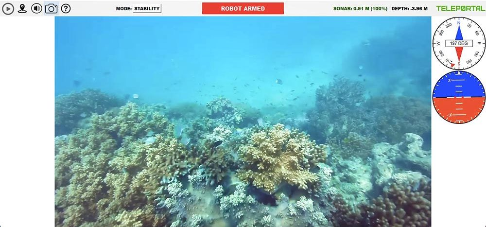 Teleportal drive your own underwater drone on the Great Barrier Reef - reef view