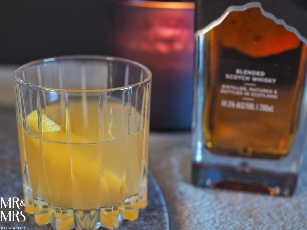 Peated Whisky Cocktail - honey lemon and ginger