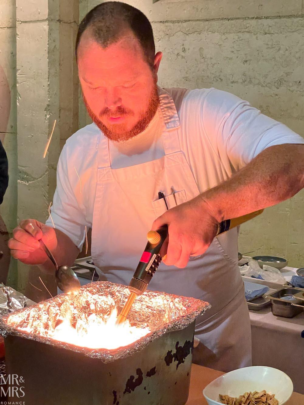 Margan cooking masterclass Head Chef Joey Ingram #HVWFF21