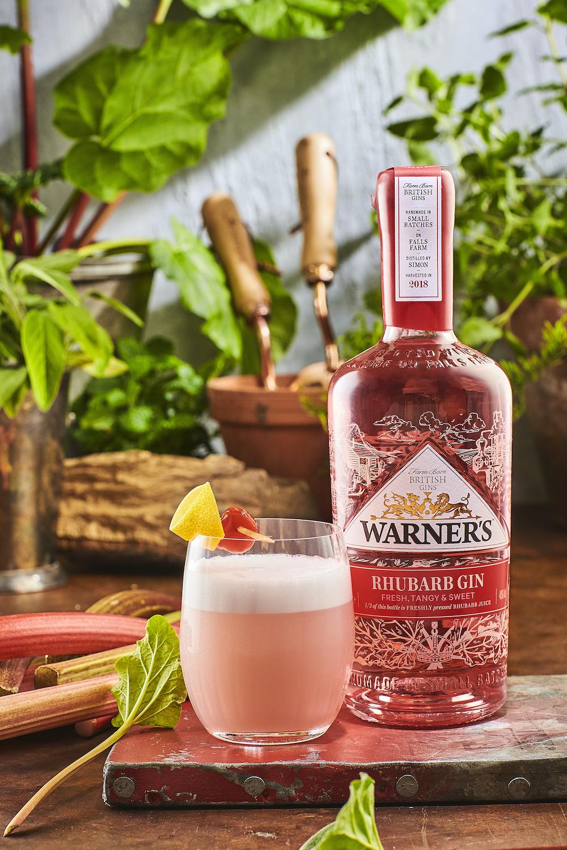 World Gin Day - Warner's Rhubarb Gin cocktail