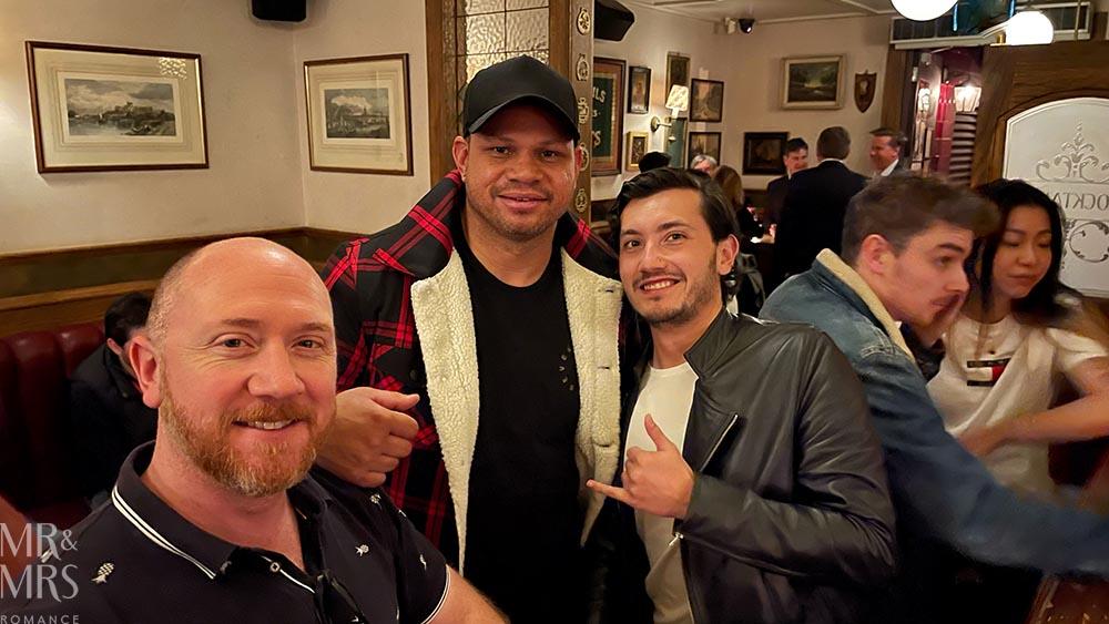 Jim, Daniel Motlop and Isaiah at Duke of Clarence