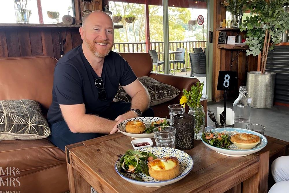 Jim and pies at Enniskillen Kitchen