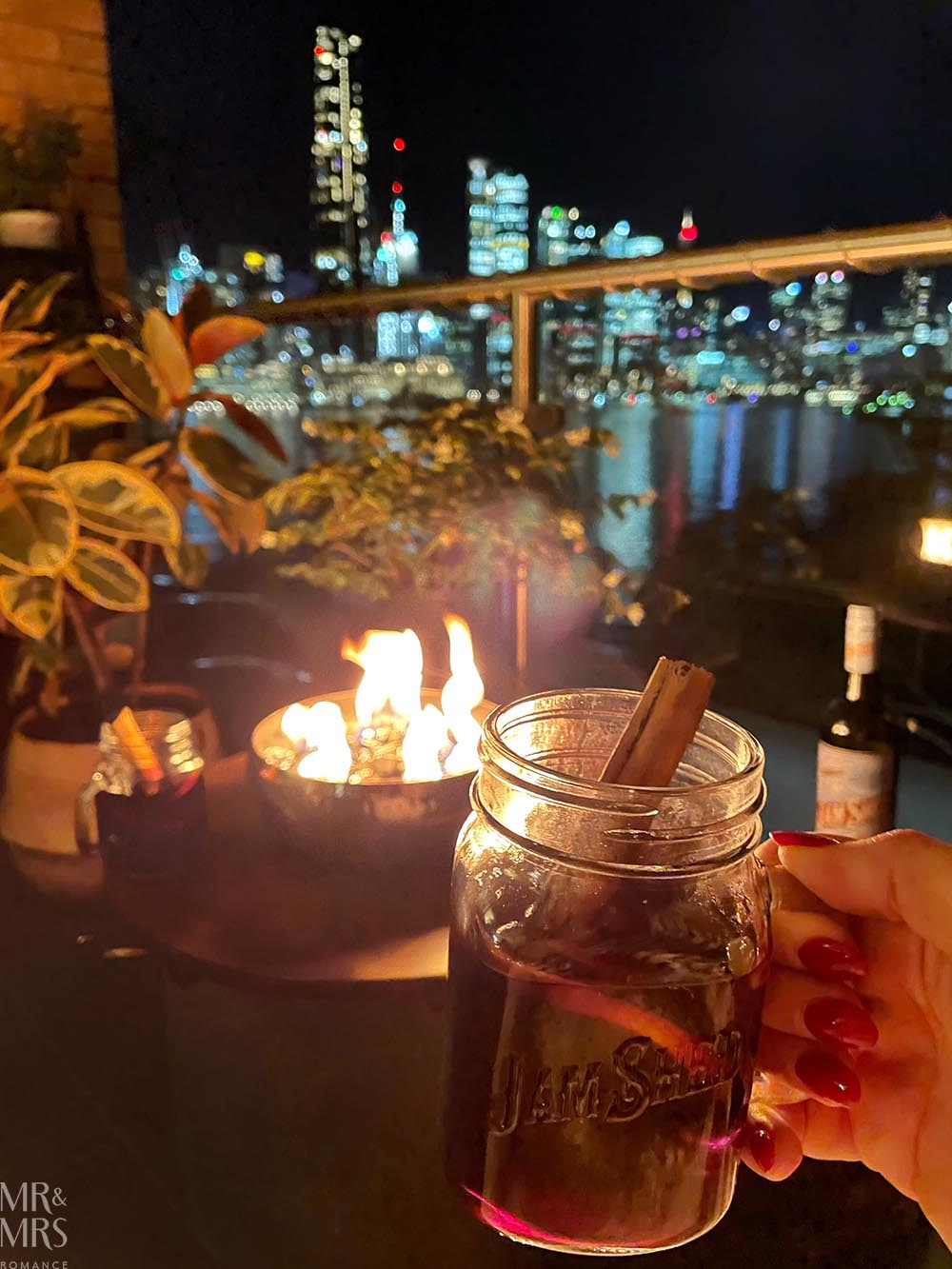 Mulled wine and fire pit