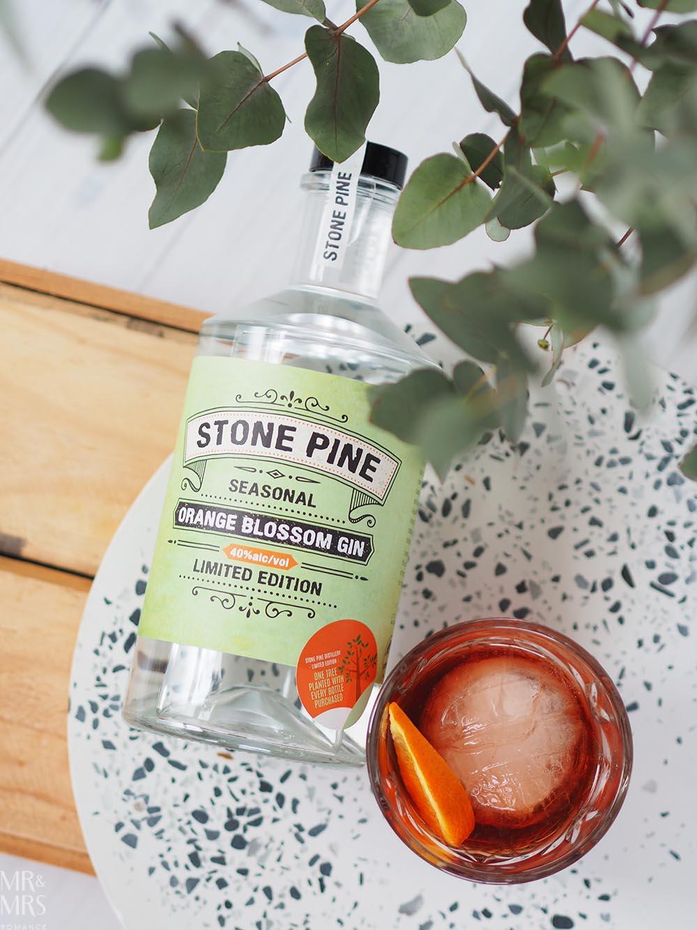 Negroni cocktail Stone Pine Orange Blossom gin