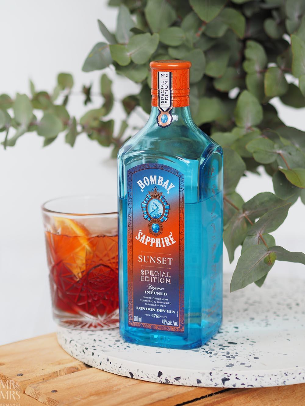 Negroni cocktail Bombay Sapphire Sunset gin