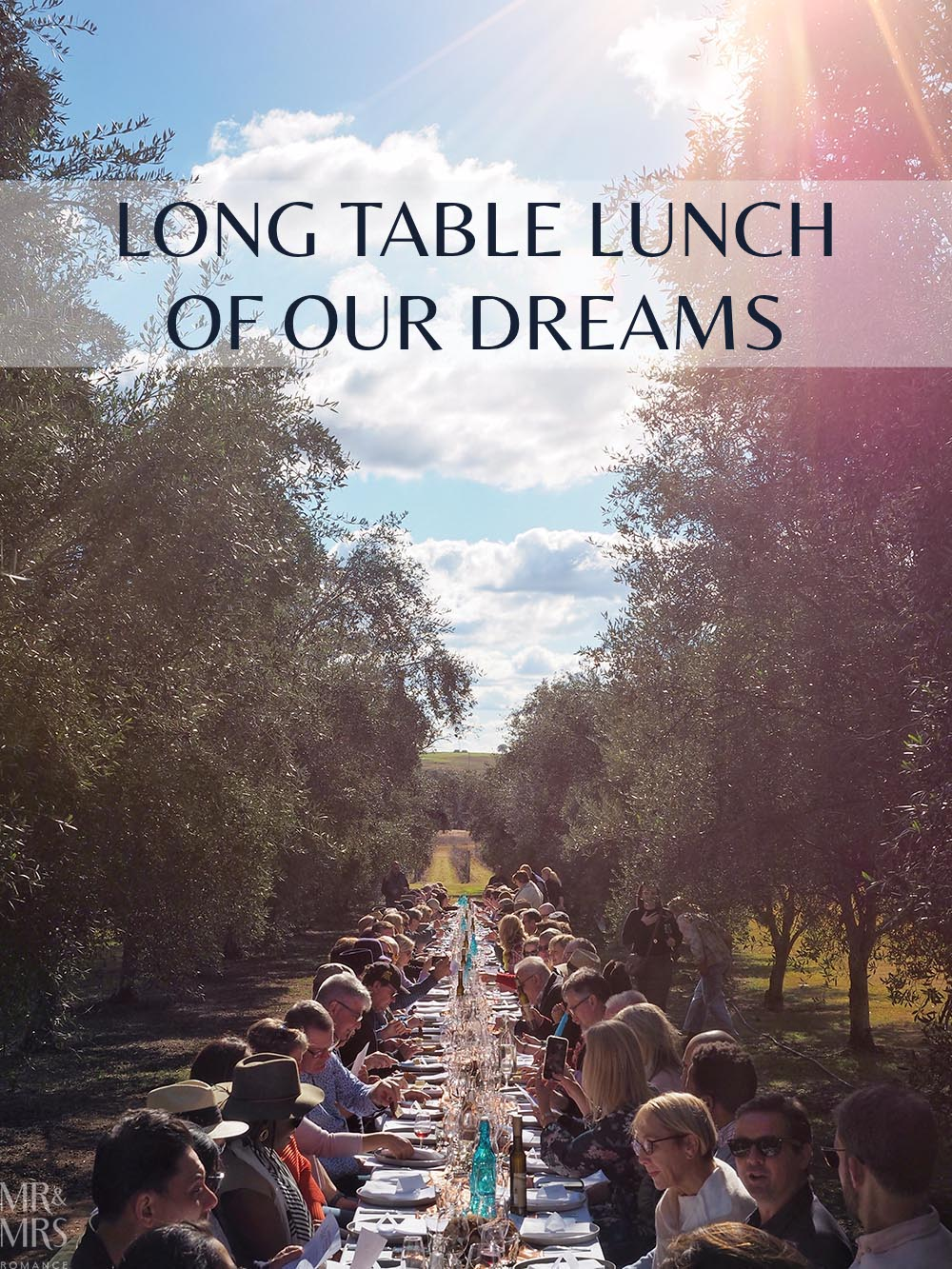 Whispering Brook Estate Olive Long Table Lunch, Hunter Valley - Mr & Mrs Romance