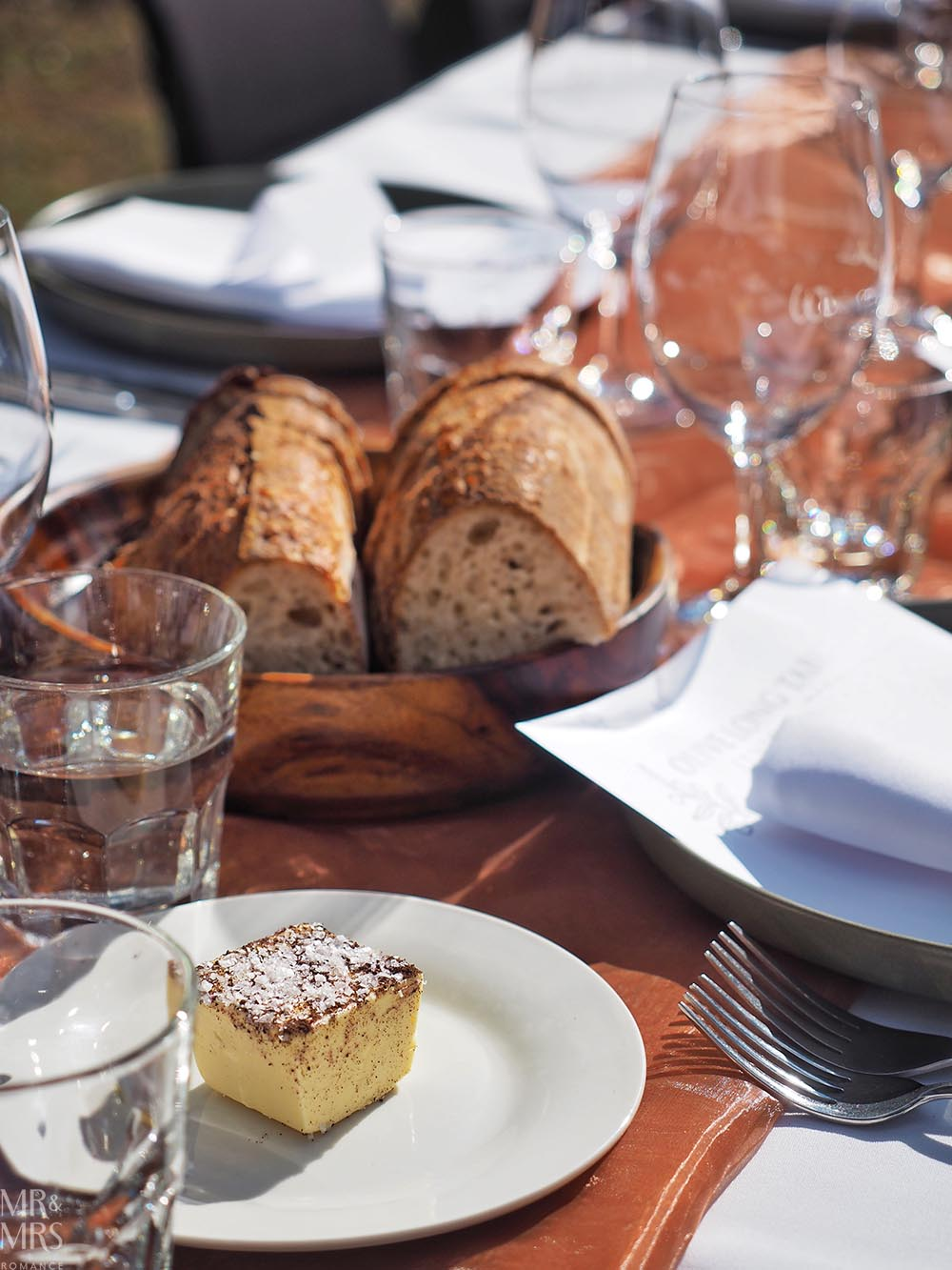 Whispering Brook Estate Olive Long Table Lunch, Hunter Valley - Mr & Mrs Romance - bread and butter