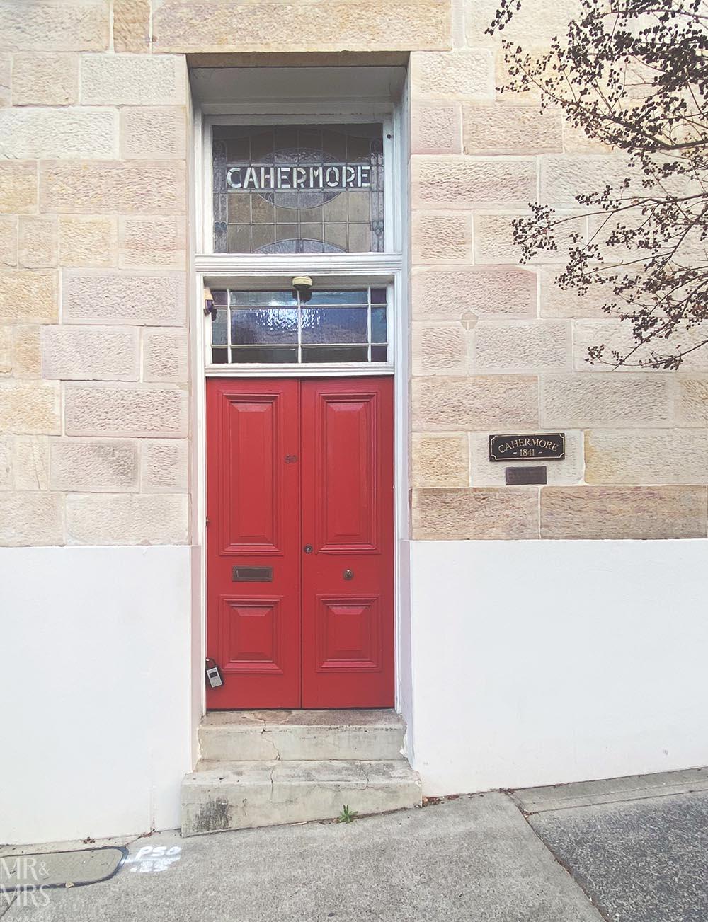 Balmain red front door - Colourwalk