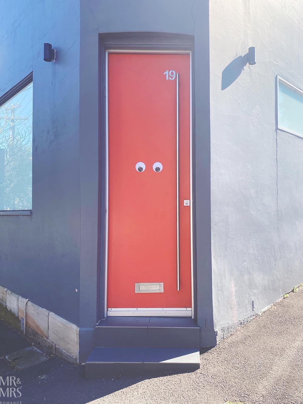 Googly eyes front door in Rozelle - Colourwalk
